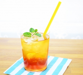 柚子シロップアレンジレシピ②『柚子ティーソーダ』